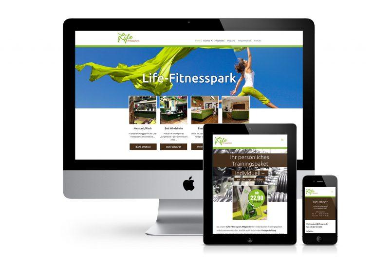 Internetseite Lifefitnesspark
