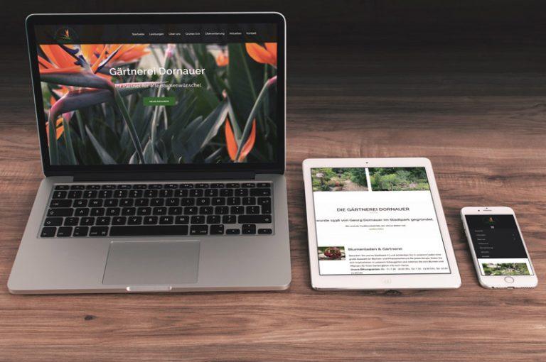 Internetseite der Gärtnerei Dornauer
