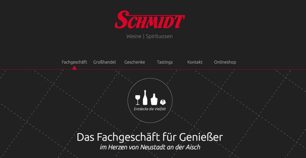 Übersicht Internetseite