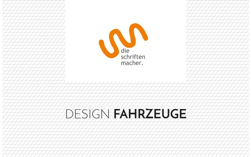 Schriftzug Designfahrzeuge
