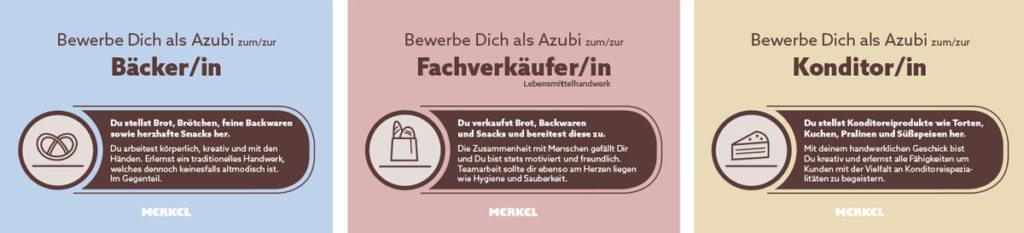 Die verschiedenen Ausbildungsberufe und deren Inhalte bei der Backstube Merkel