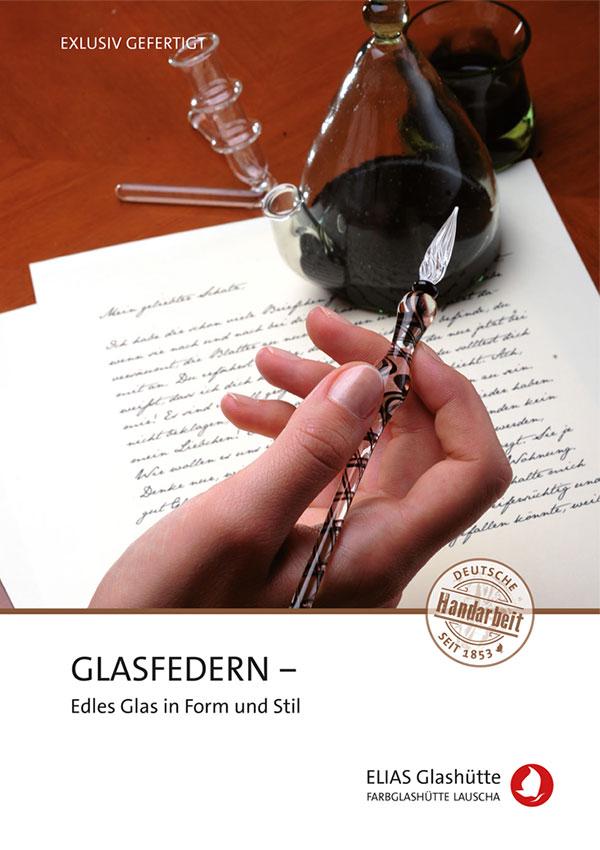 Flyer, Zertifikat Glasfedern