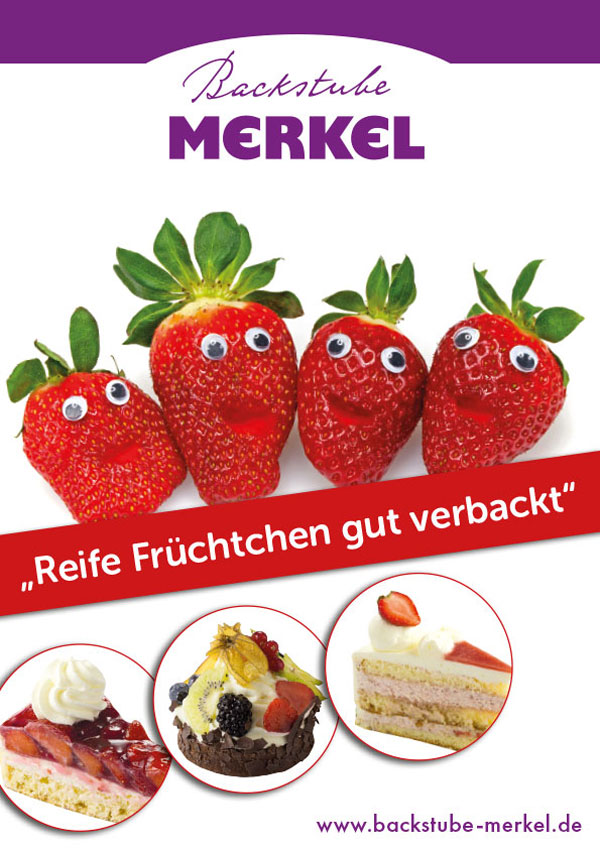 Plakate für die Erdbeeraktion