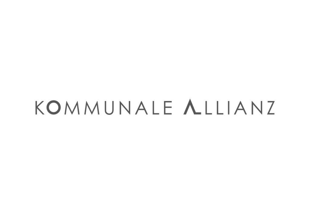 Schriftzug Kommunale Allianz