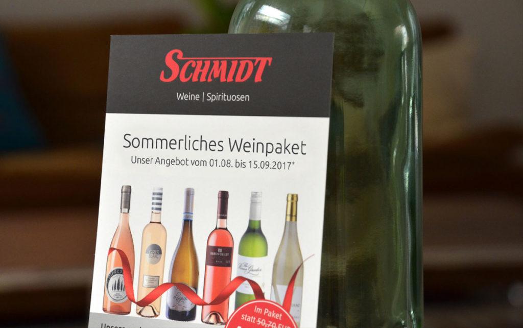 Flyer Weinpaket