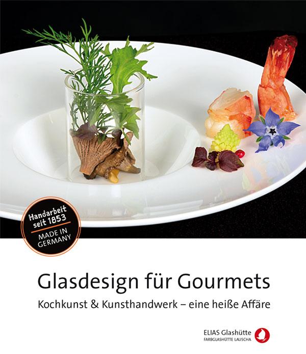 Flyer, Zertifikat Glasdesign für Gourmets
