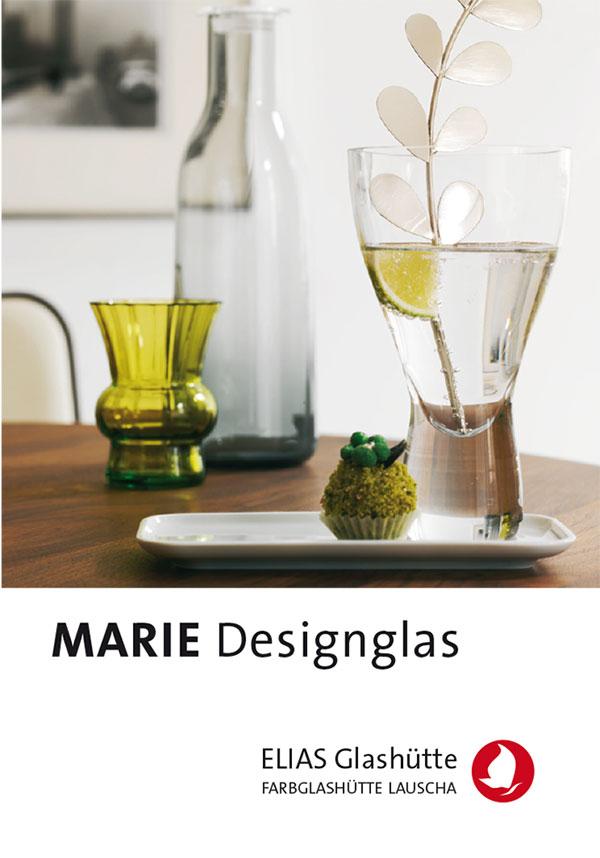 Flyer, Zertifikat Marie Designglas