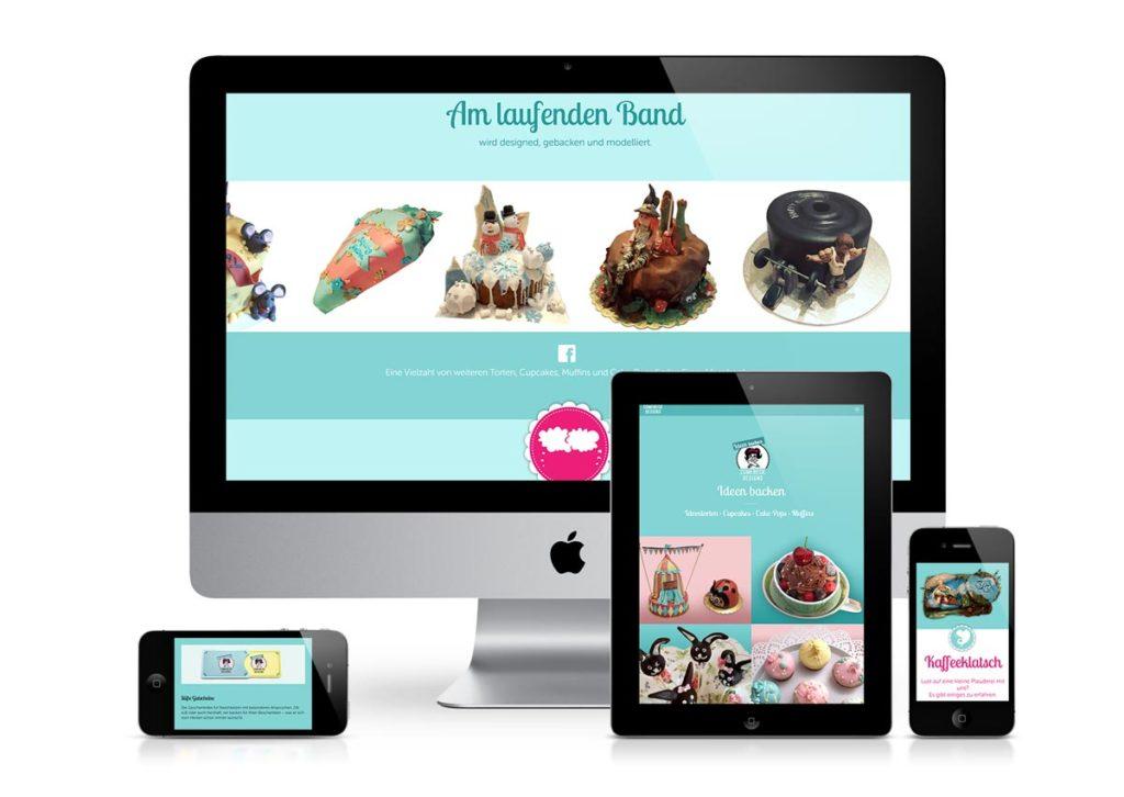 responsives Design der Internetseite von ComebeckDesigns am PC, Tablet und Handy