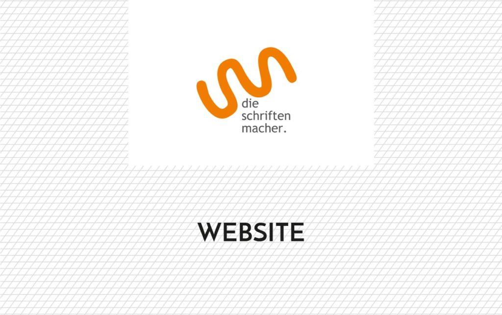 Schriftzug Website