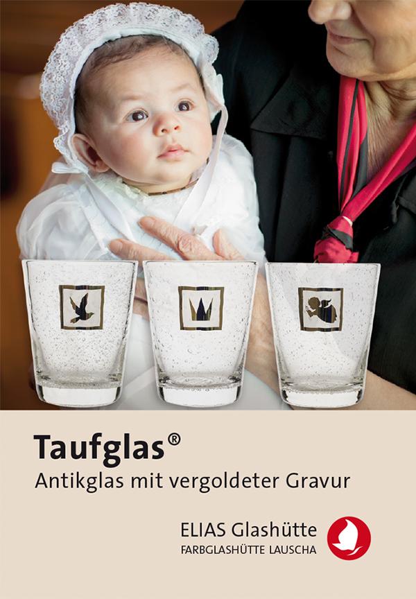 Flyer, Zertifikat Taufglas