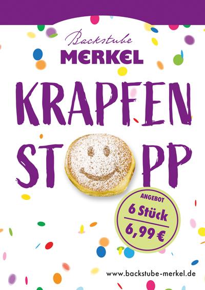 Krapfenaktion von Merkel
