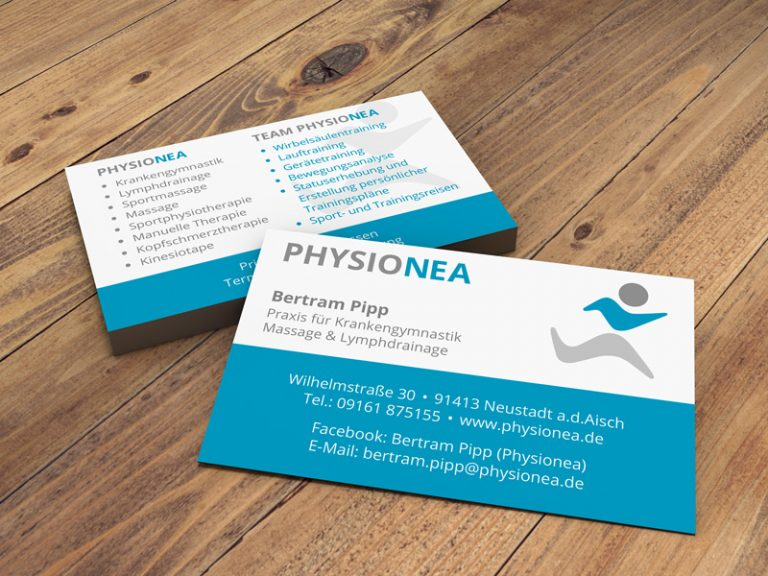 Visitenkarten für PhysioNEA