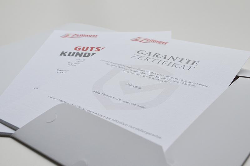 Gestaltung der Zertifikate