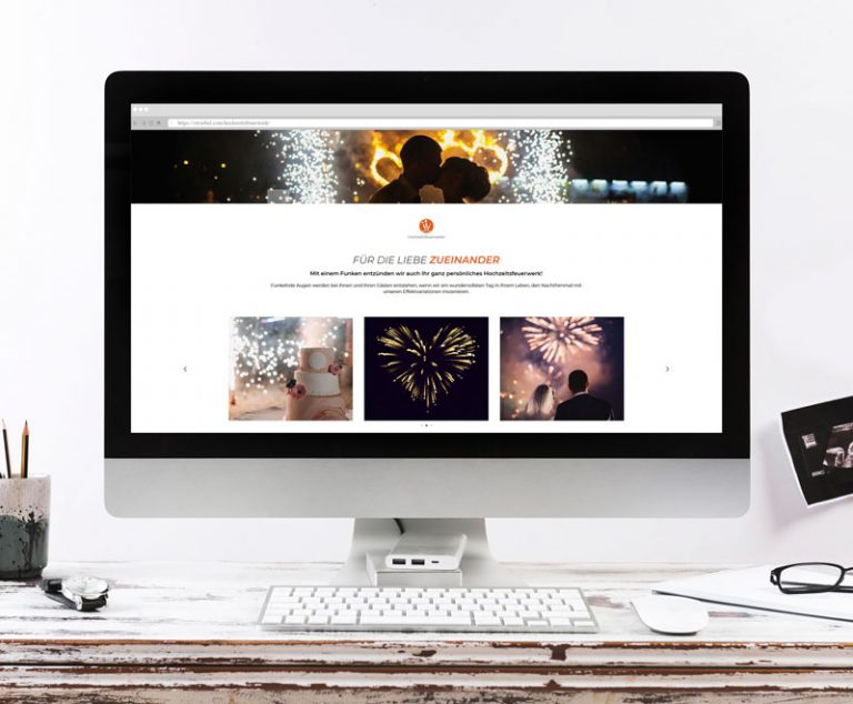 Internetseite für Ströbel Feuerwerke