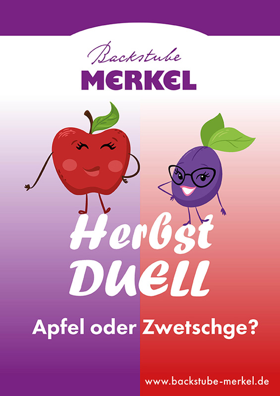 Aktionsplakat für Backstube Merkel