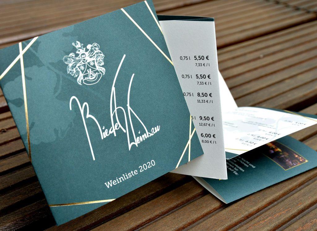 Preisliste Weinbau Riedel