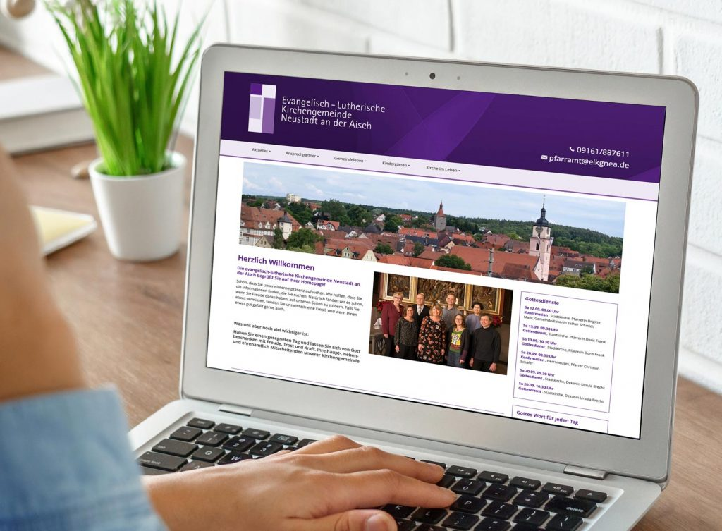 Relaunch der Website von der evangelischen Kirche Neustadt an der Aisch