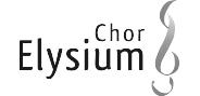 "Logo ""Chor Elysium"" in Graustufen"