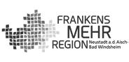 """Logo """"FrankensMehrregion"""" in Graustufen"""