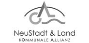 """Logo """"KommunaleAllianz Neustadt & Land"""" in Graustufen"""