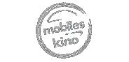 """Logo """"mobiles Kino"""" in Graustufen"""