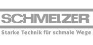 """Logo """"Schmelzer"""" in Graustufen"""
