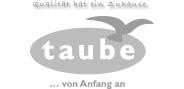 """Logo """"taube"""" in Graustufen"""