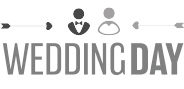 "Logo ""WeddingDay"" in Graustufen"