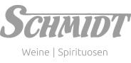 """Logo """"Schmidt Weine & Spirituosen"""" in Graustufen"""
