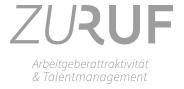 """Logo """"Zuruf"""" in Graustufen"""