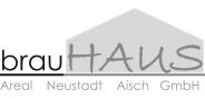 """Logo """"brauHaus"""" in Graustufen"""