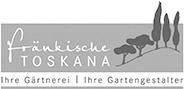 """Logo """"fränkische Toskana"""" in Graustufen"""